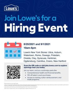 Lowe's Hiring Event @ Lowe's | Rome | New York | United States