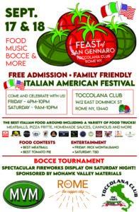 Feast of San Gennaro @ Toccolana Club | Rome | New York | United States