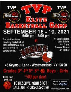 TVP Elite Basketball Camp @ Borza's Recreation Center | Westmoreland | New York | United States